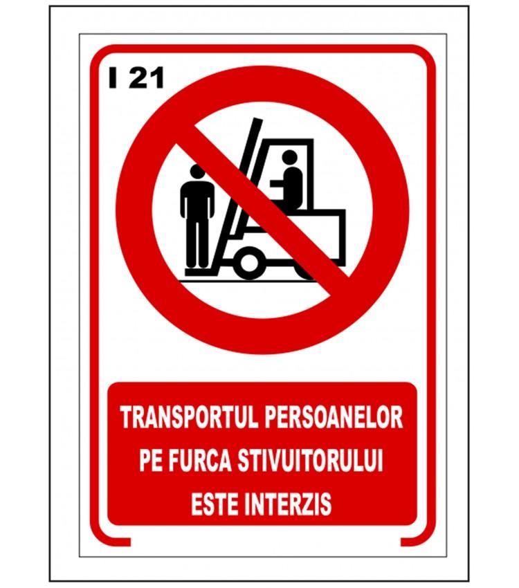 Transportul persoanelor pe fruca stivuitorului este interzis
