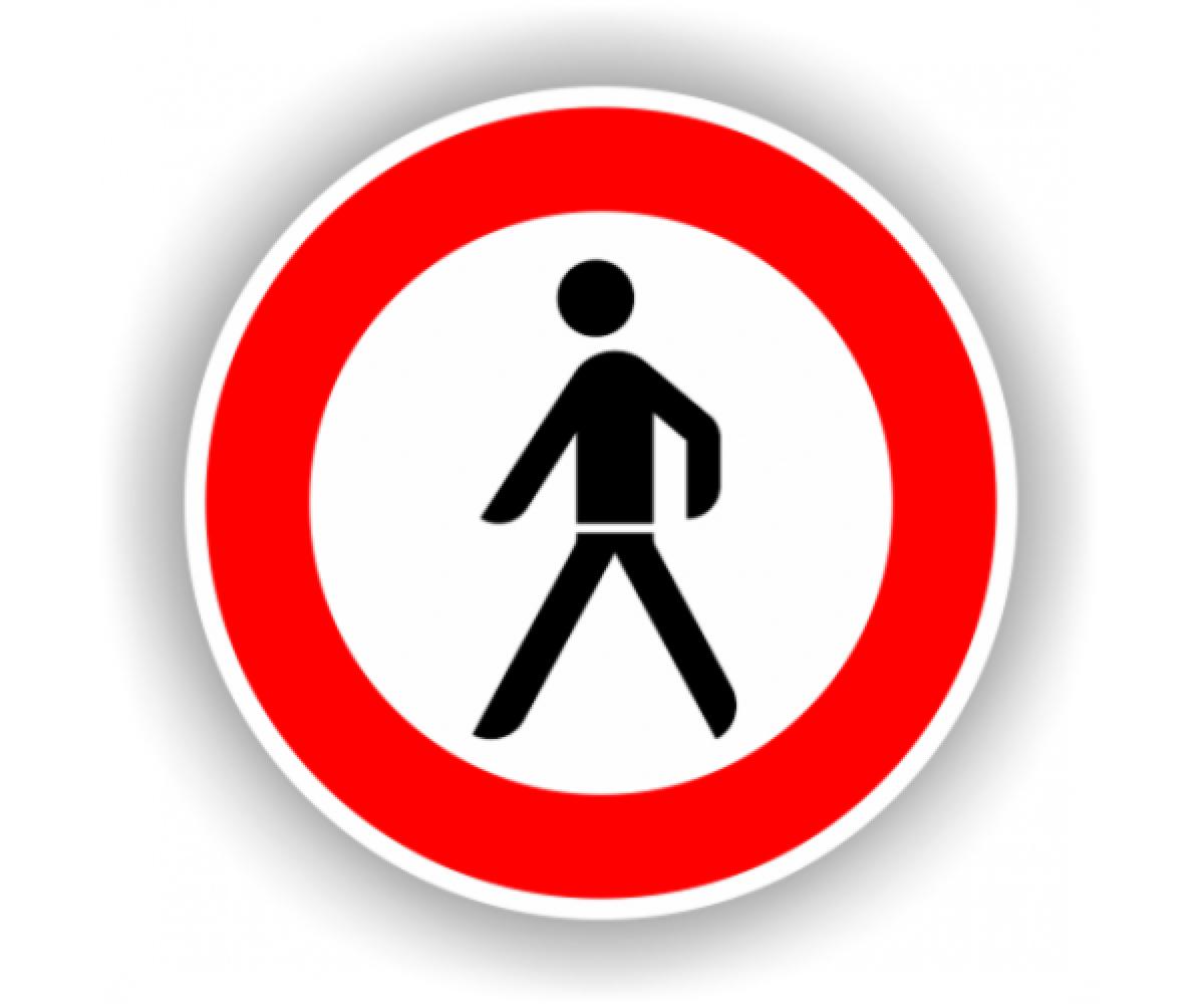 Semn Accesul interzis stivuitoarelor - indicator de interdictie